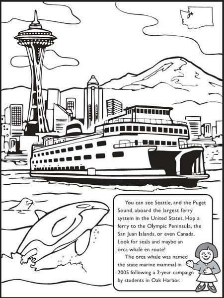 For the kids The Washington State Coloring Book