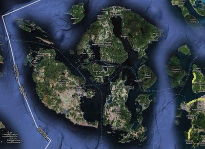 Map of the San Juan Islands